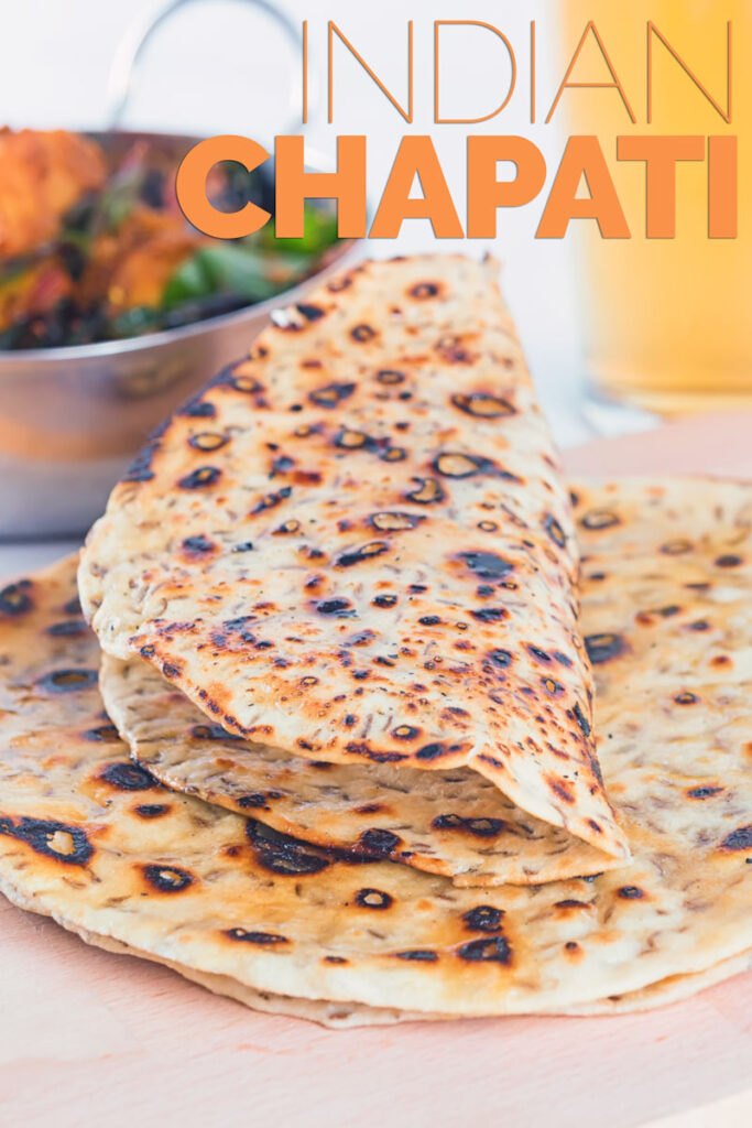 Easy Homemade Indian Chapati with Cumin
