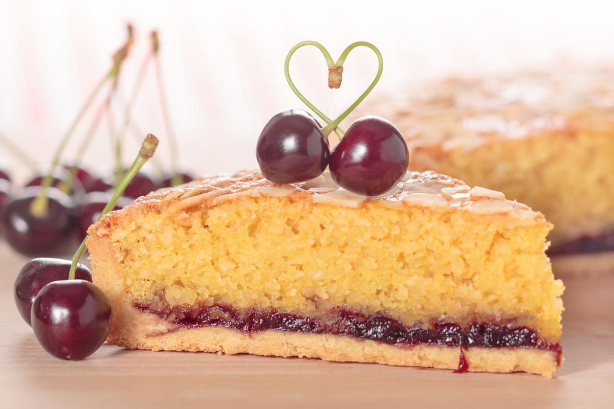 Cherry Bakewell Cake Recipe