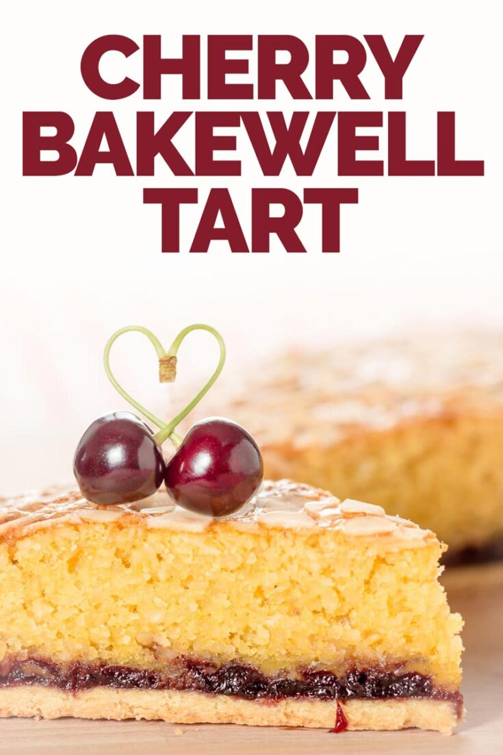 Mr Kiplings Bakewell Tart are a happy memory from childhood, but this grown up version is better, I think Almond and Cherry are made for each other. #bakewelltartbritish #bakewelltartrecipe