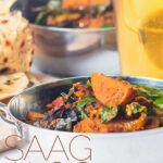 Saag Aloo is a long-standing favourite curry of mine, the move from spinach to swiss chard adds a depth of iron-rich earthy flavour to an already wonderful dish! Ready in 40minutes this is a great week night dinner win. #vegancurry #vegetariancurry