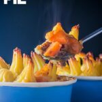 A Cottage Pie is a wonderful homely British recipe of braised ground beef and root vegetables in a gravy topped with a crispy potato top.