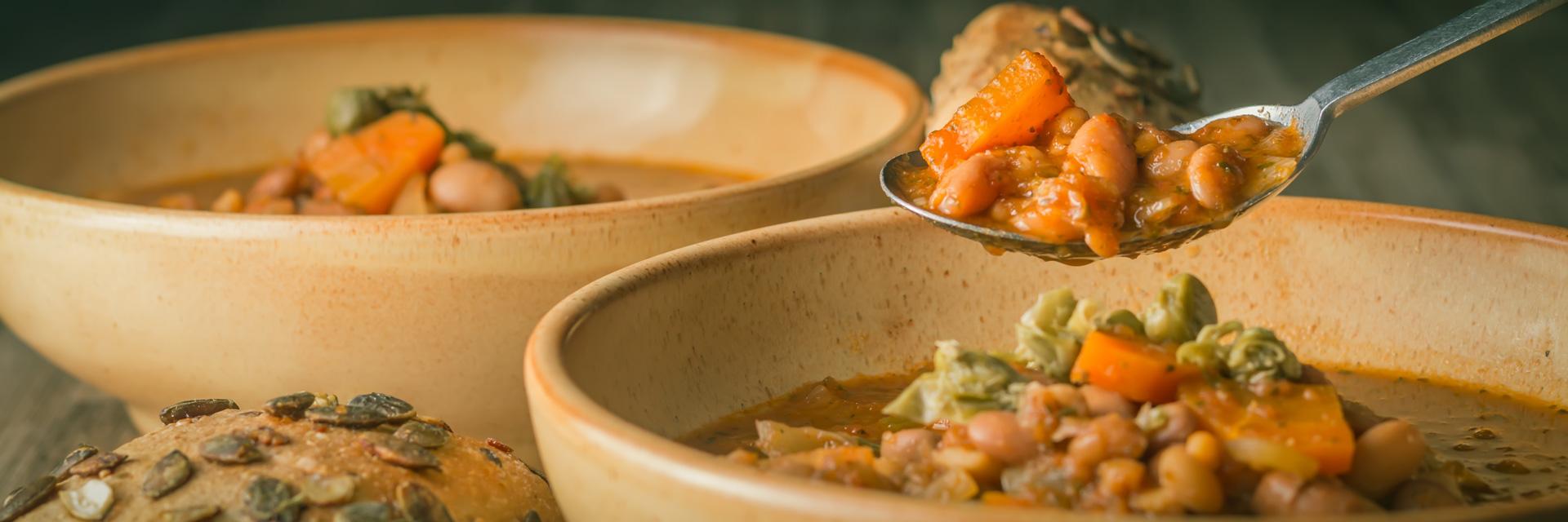 Hearty Crockpot Bean Soup