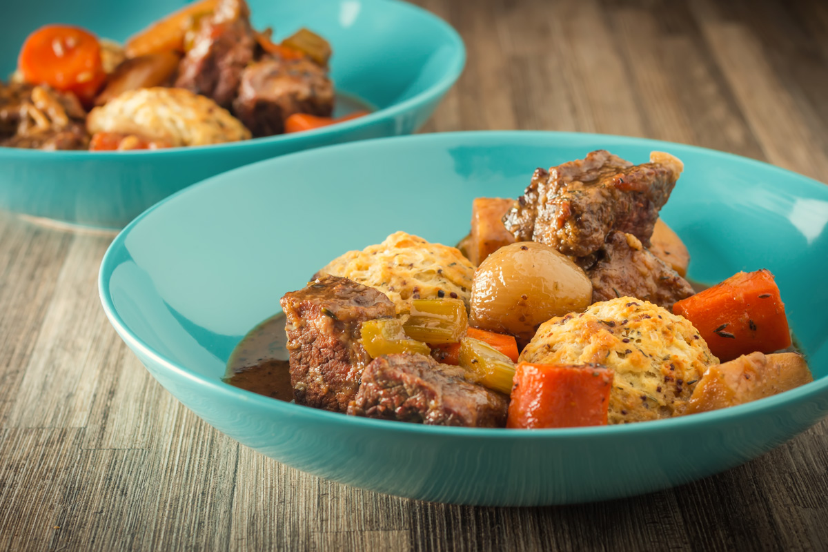 Beef Stew With Suet Dumplings