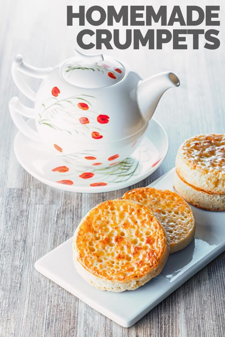 These Homemade crumpets are hand crafted with love and are a wonderful breakfast, brunch or supper treat and the finest way to increase your butter intake! So ditch the store bought ones and get these made! #englishcrumpets #homemaderecipes