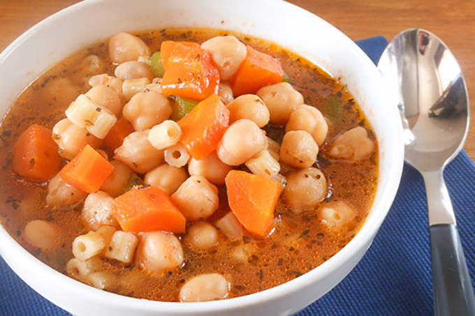 Slow Cooked Food Rocks: Chick Pea Minestrone