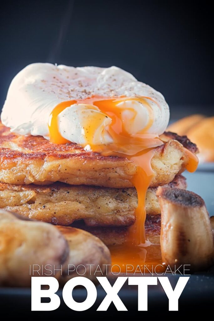 Boxty are an Irish potato pancake a super indulgent breakfast and if required an outstanding hangover cure! #irishpancakerecipe #hangoverfood