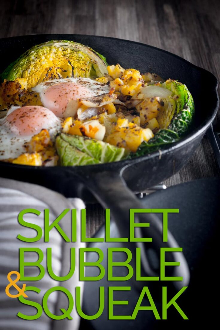 Bubble and Squeak is traditionally a left over dish, I like to do mine a little differently and blast it all in a cast iron skillet and rock it with an egg or two. #bubbleandsqueakoven #britishbubbleandsqueak
