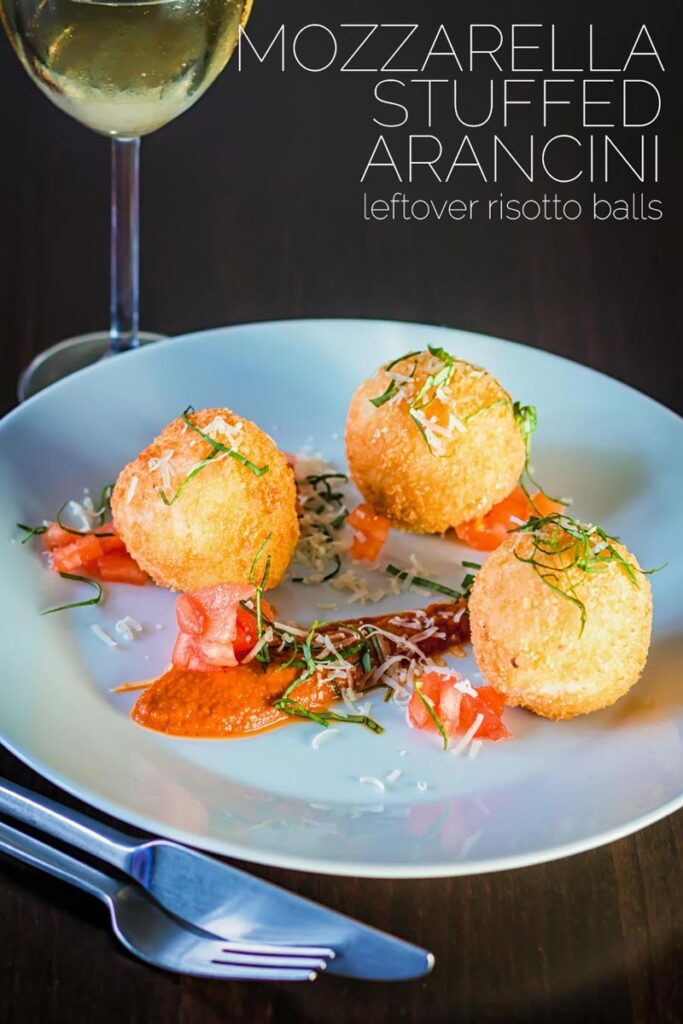 The Italians are responsible for some of the most wonderful comfort food ever devised and these Mozzarella Cheese stuffed Arancini balls are crusty, crunchy on the outside and soft and cheesy on the inside