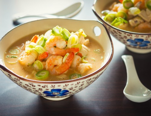 Quick Asian Chicken and Shrimp Soup