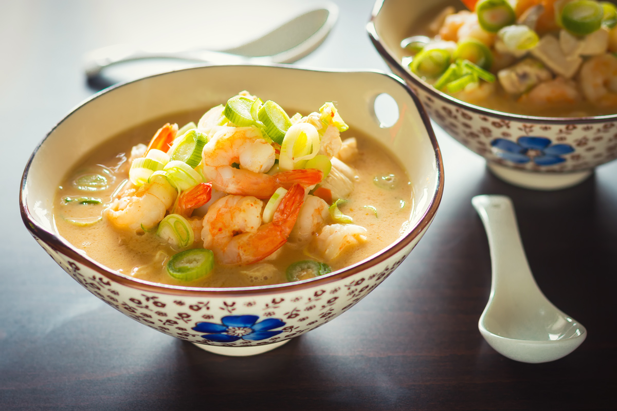 Quick Asian Chicken And Shrimp Soup Krumpli