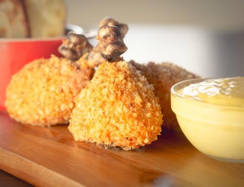 Golden Baked Chicken Drummers