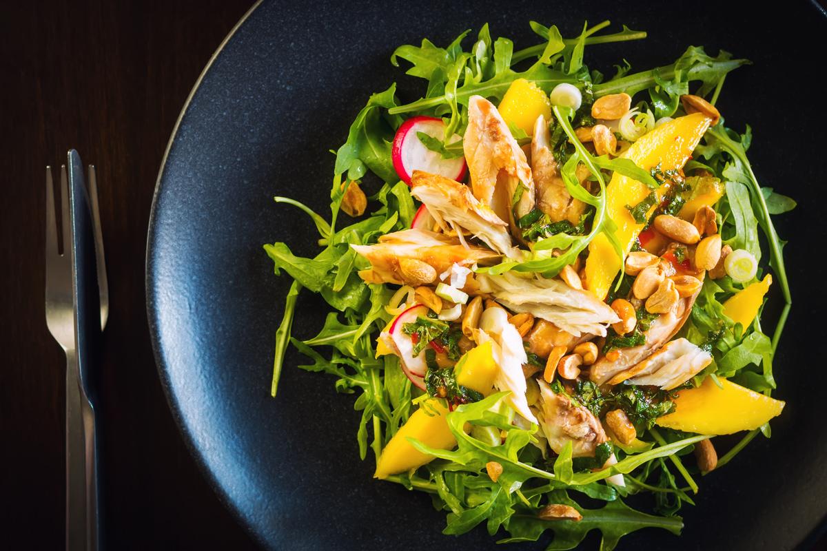 Smoked Mackerel Salad with Mango