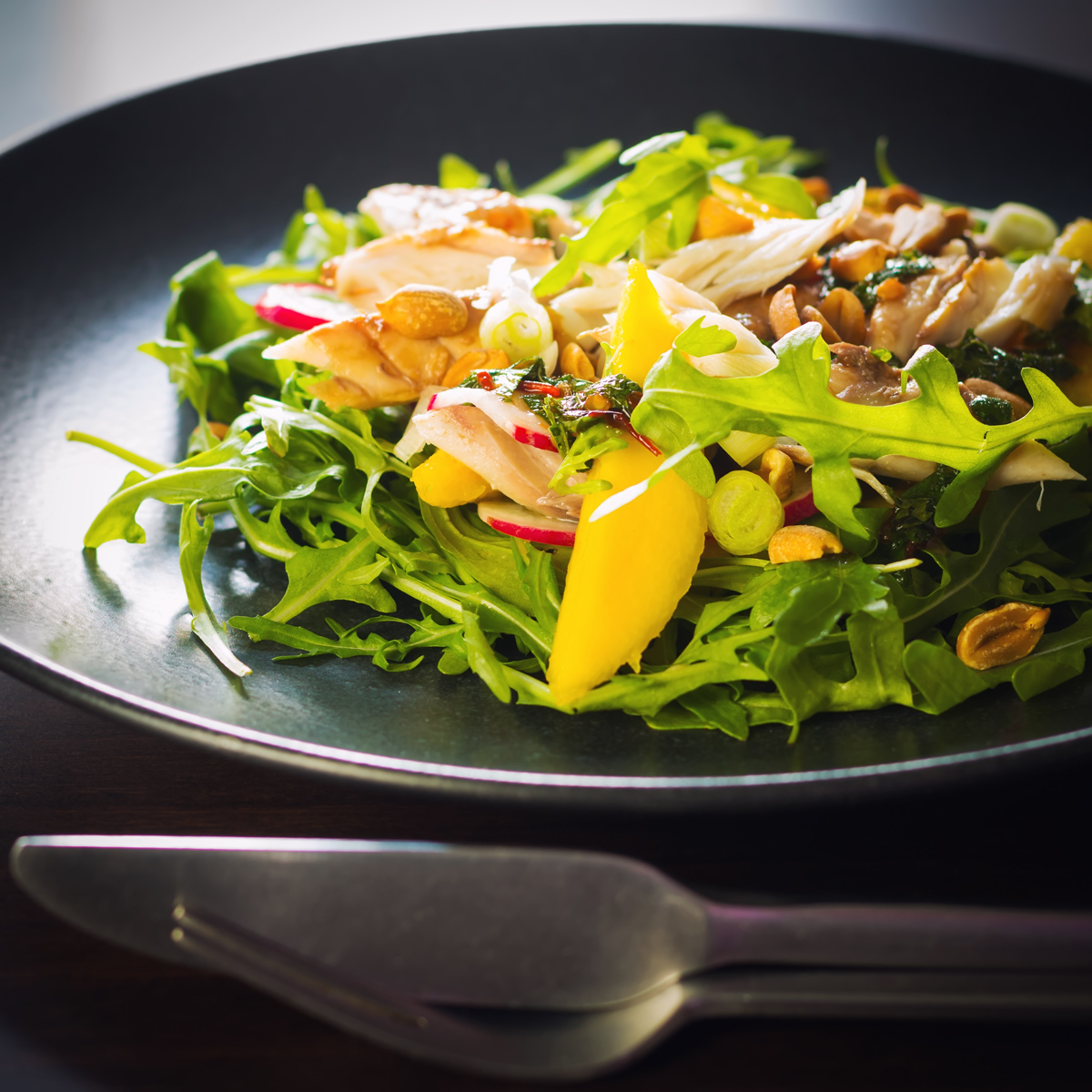 Smoked Mackerel Salad with Mango | Krumpli