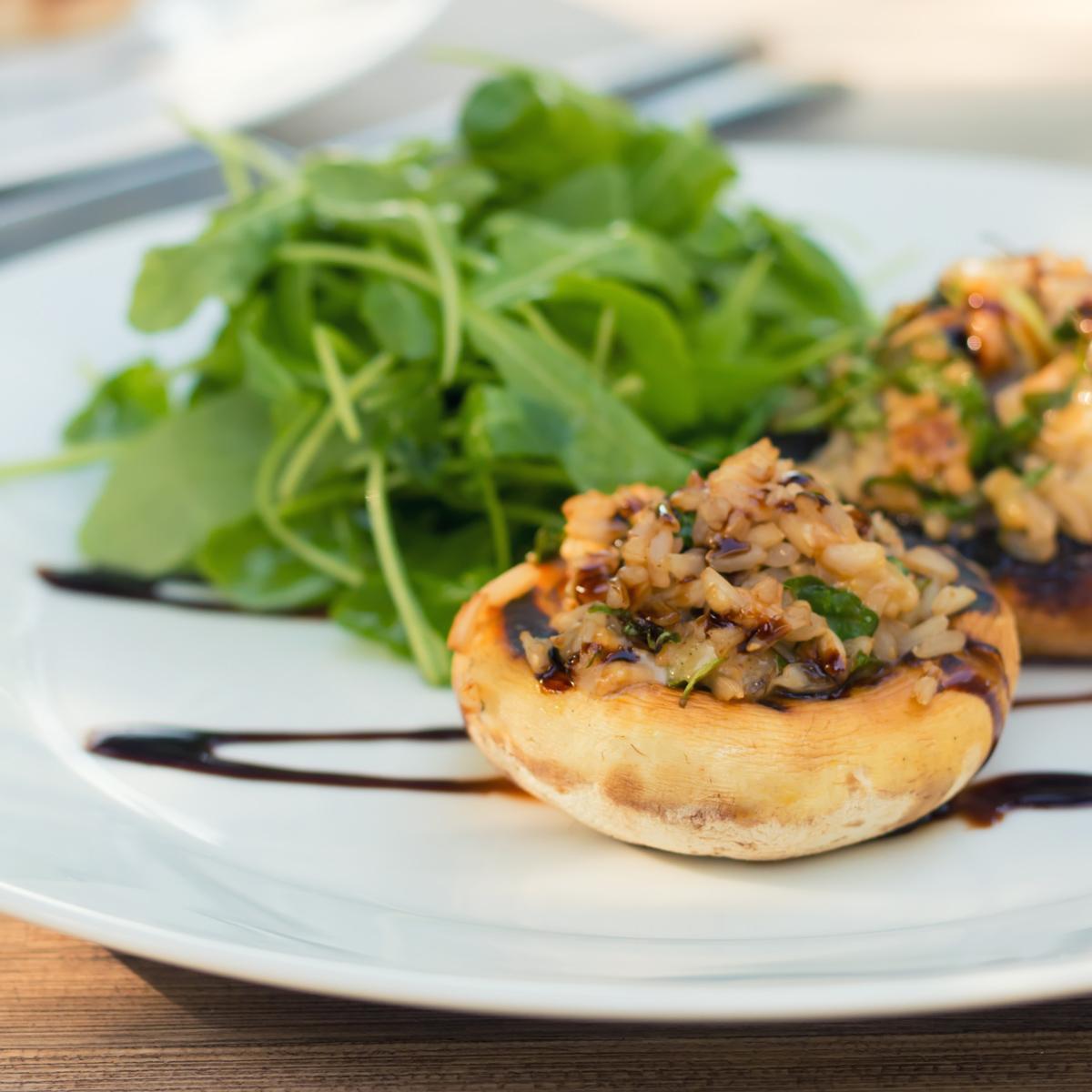 grilled stuffed mushrooms  krumpli