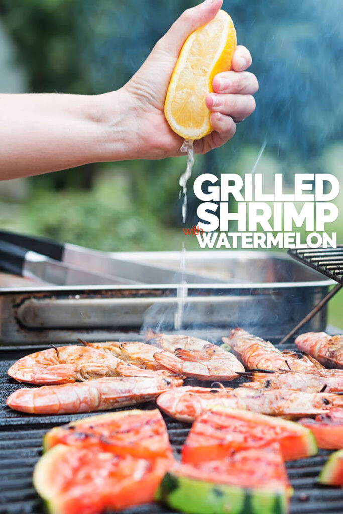 BBQ Prawns or Shrimp with Watermelon