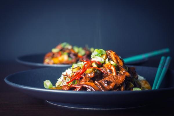 Stir Fry Beef with Shiitake Mushroom