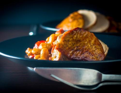 Honey Roast Pork Loin with Chorizo & Red Pepper