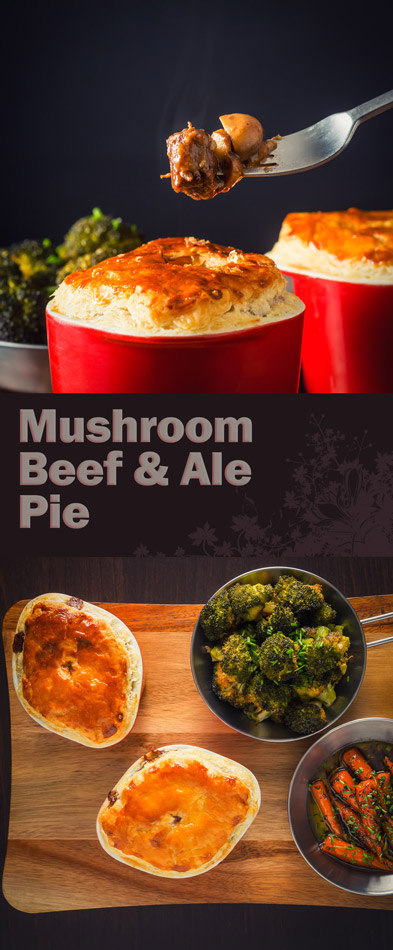 Beef and ale pie is winter stalwart add some mushrooms and bake in a pot under puff pastry and I am in pie heaven.