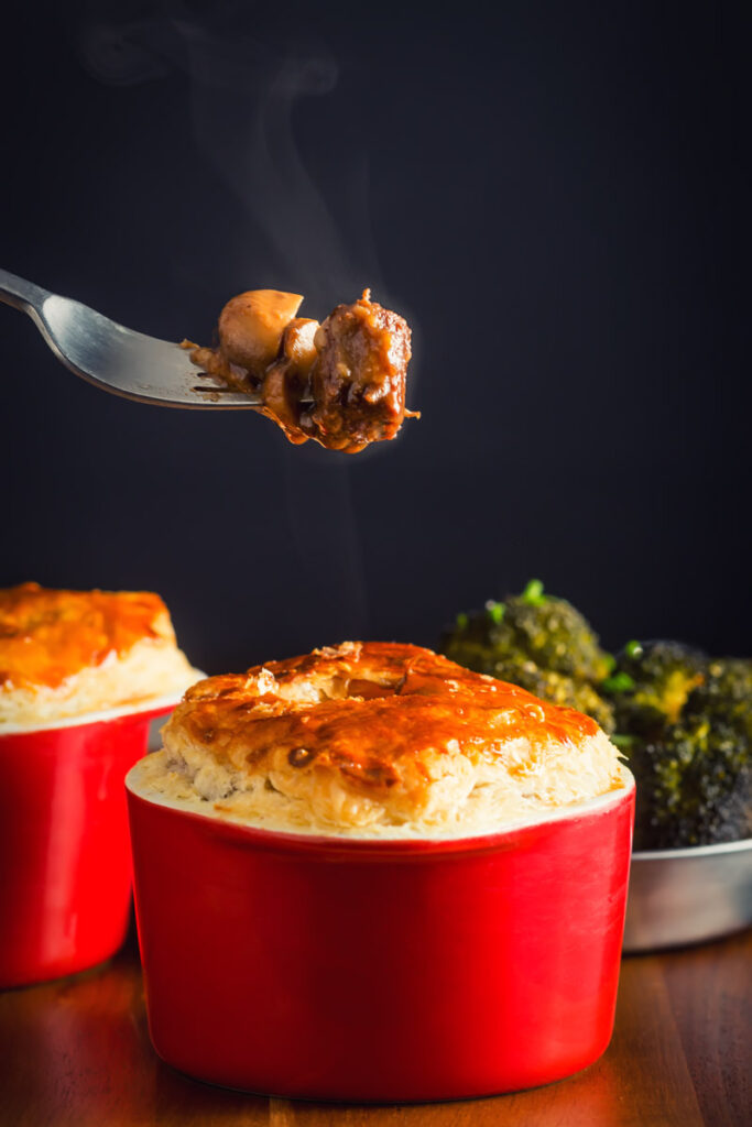 Mushroom, Beef and Ale Pie