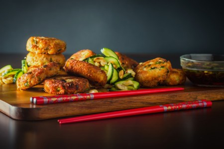 Spicy Tuna Fishcake With Cucumber Salad