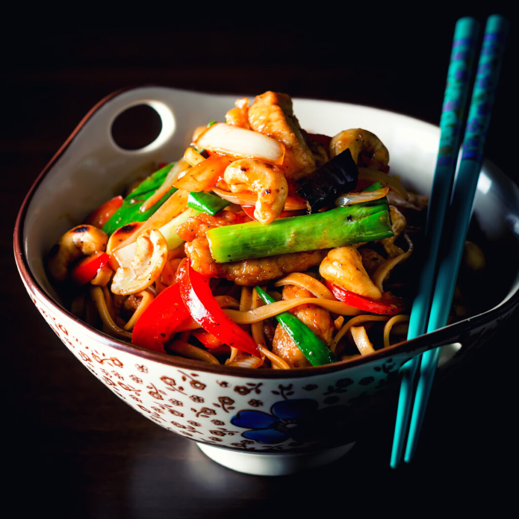 Thai Style Stir Fry Chicken with Cashew Nuts