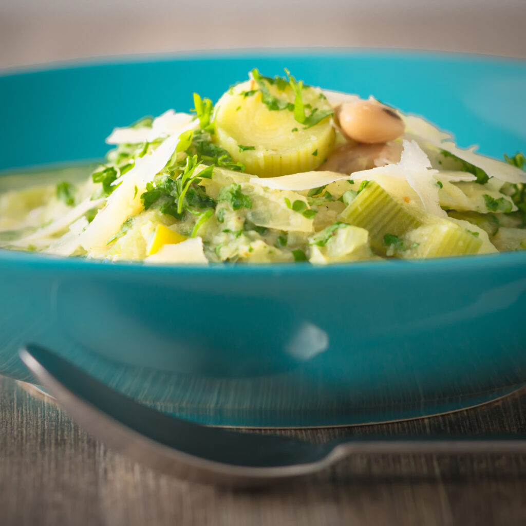 Tuscan Cabbage and White Bean Soup
