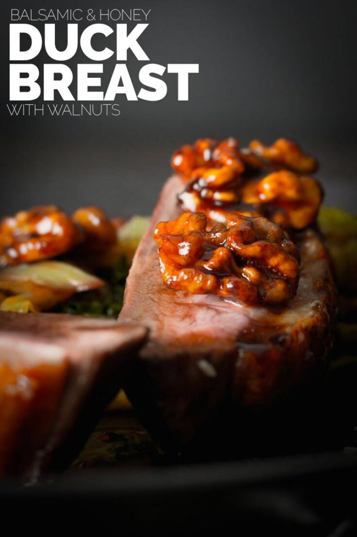 Balsamic and Honey Glazed Duck Breast is perfect date night food, fancy enough to impress but simple enough so you don't spend all night at the stove, infact only 30 minutes to completion Enjoy!  #datenightfood  #duckrecipes