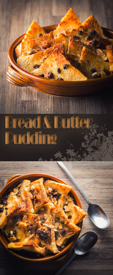 Bread and Butter Pudding was the ultimate frugal pudding when I was growing up in the UK, I have tweaked a little but still simplicity at its best.