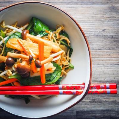 Mushroom Chow Mein