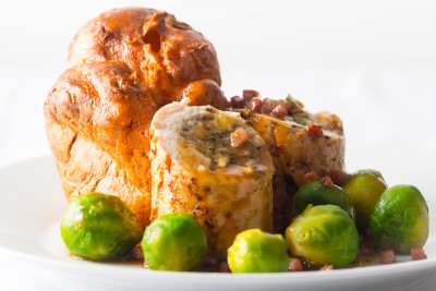Poached Sage and Onion Stuffed Chicken Breast