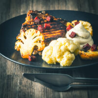 Spanish Pork Chop with Cauliflower