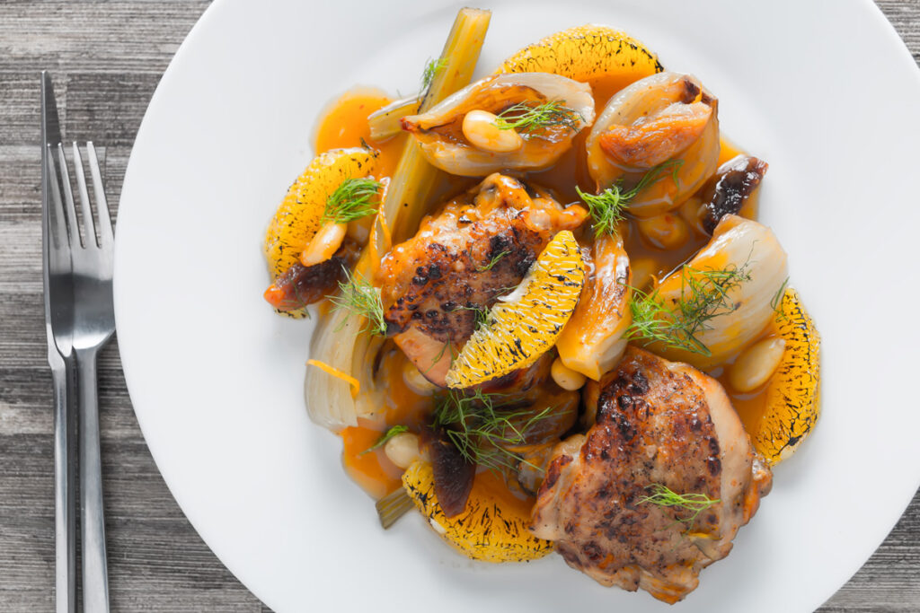InstantPot Fruity Fennel Chicken Thighs
