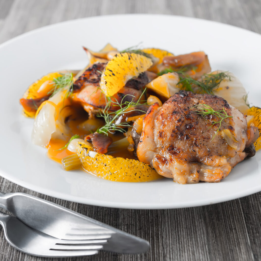 Cooking these Fruity Fennel Chicken Thighs in an Instantpot reduces the time an old favourite slow cooker recipe cooks by 5 hours.