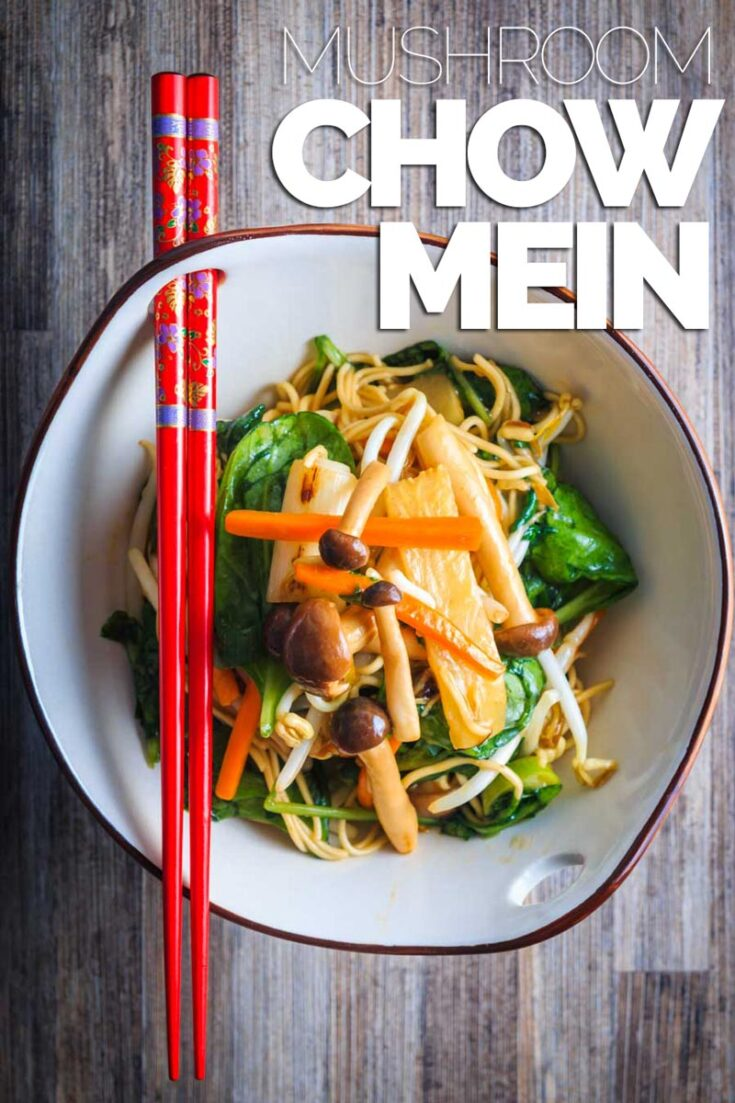My Mushroom Chow Mein as my take on the takeaway legend and being ready in 20 minutes means it is much quicker than delivery. #chineserecipes #vegetarianrecipes