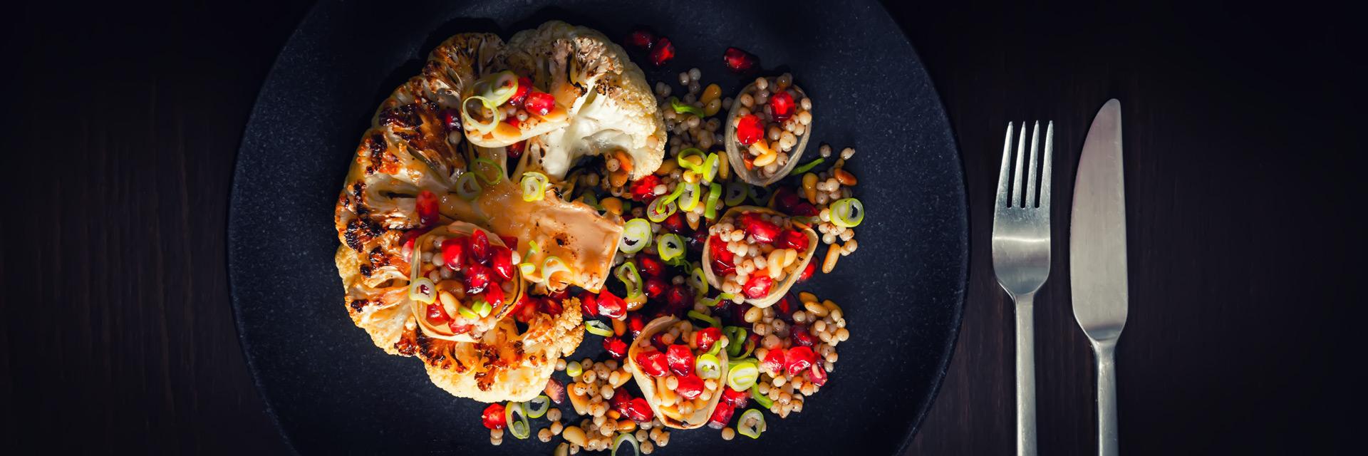 Persian Roasted Cauliflower Steak