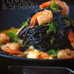 Bring a bit of bling to your spaghetti with shrimp by adding some squid ink pasta and the classics chili, garlic and lemon juice. #squidinkpastawithshrimp #30minutemeals