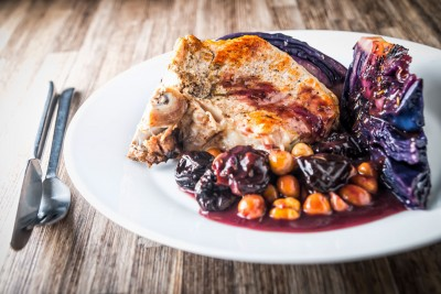 Getting one pot meals in a pressure cooker right can be a challenge and this InstantPot Pork Chop with Red Cabbage and Prunes recipe is all right and some!