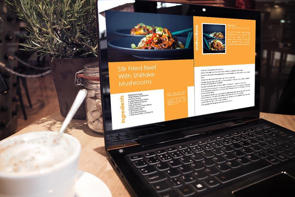 Krumpli Homepage Free Ebook Mock Up