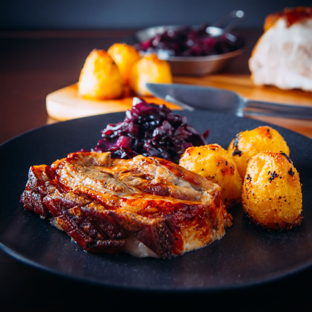 There is nothing as fine as piece of slow cooked roast pork belly with a crispy crackling, so I guess this goes down as real damn fine!