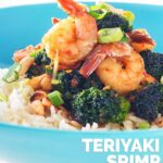 This Teriyaki Shrimp with Broccoli dish is one of those crazy quick moorish dishes that will have you dumping those takeaway menus! This is a lighter and quicker alternative to that takeaway! #takeaway #fakeaway