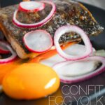 Zander or pike perch is this star of this fancy looking but deceptively simple dish served with a confit egg yolk and is ready in 30 minutes that rocks the start of spring.