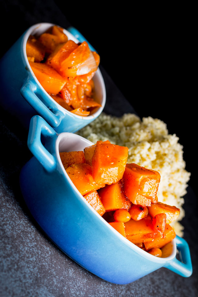 Warm North African and Arabian peninsula flavours make this butternut squash recipe a perfect Autumn Pumpkin dish!