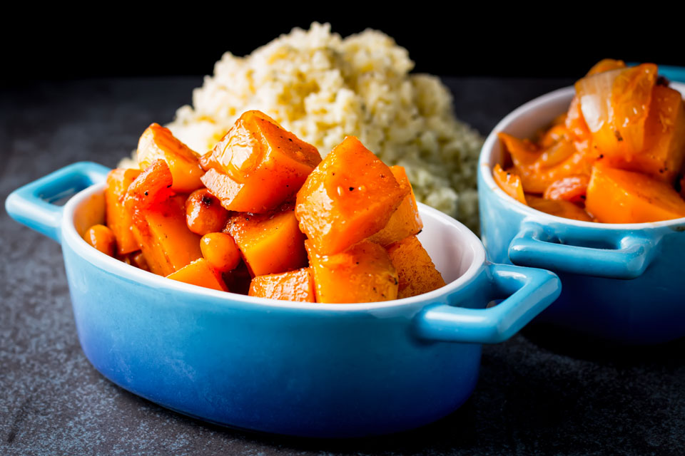 Warm North African and Arabian peninsula flavours make this butternut squash recipe a perfect Autumn Pumpkin dish!