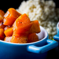 Butternut Squash Tagine WIth Almonds and Apricots