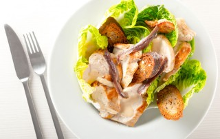 A good Caesar Salad lives and dies on its Caeser Dressing and this one comes with Michelin star credentials and more importantly my wifes approval!