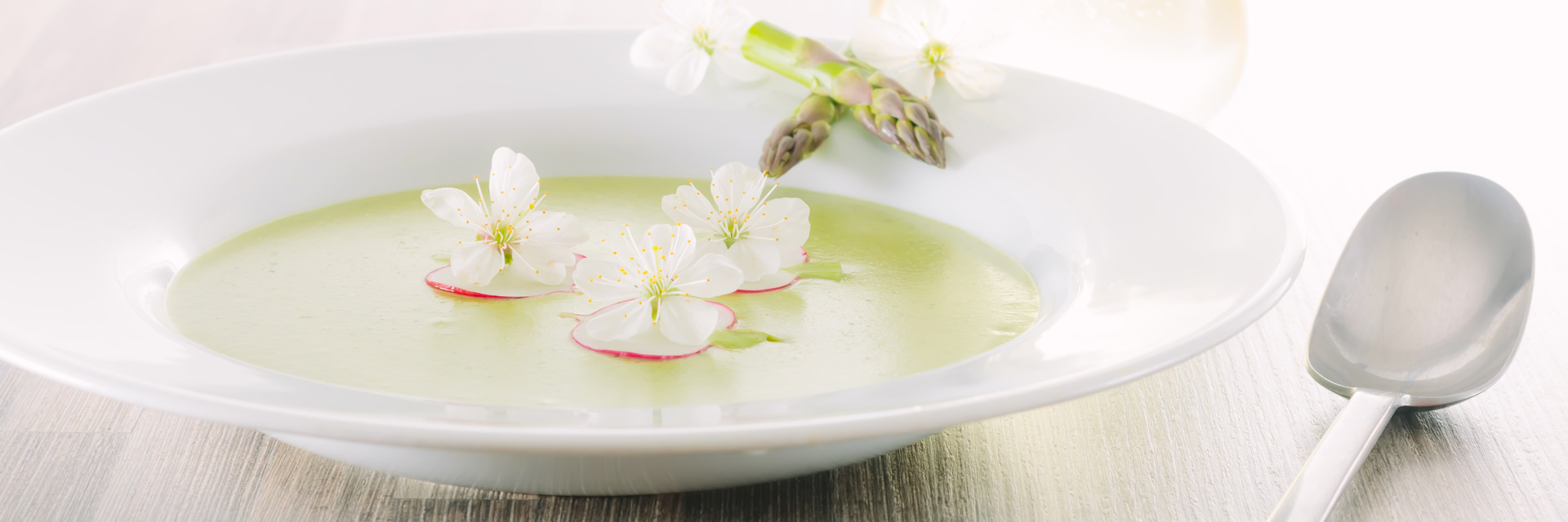 Asparagus Soup may seem a little indulgent but this cream of asparagus soup is a beautifully spring like dish with a surprising and tasty garnish.