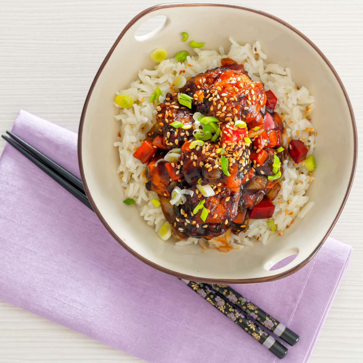 Sweet and sour pork balls were probably my introduction to Chinese food growing up in the UK, here is a version that plays homage to my memories.