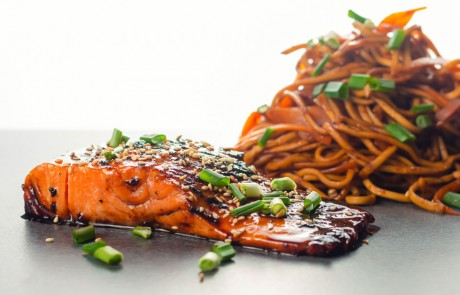 Pan fried Teriyaki Salmon is one of the most delightful and simple dishes you could ever cook, the wonderful sauce is the perfect match for the rich fish
