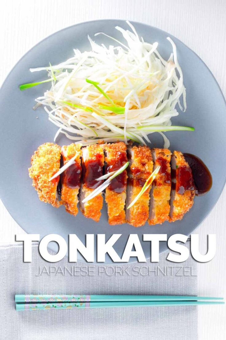 Tonkatsu may have an exotic name but it will be a familiar concept to most people, it is essentially a breaded pork schnitzel served with lightly pickled cabbage salad. #Tonkatsusauce #Tonkatsurecipes #porkrecipes #breadedpork #porkschnitzel #japanesepork