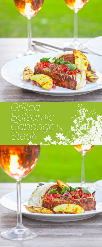 The first of the cabbage is here and this BBQ dish of Grilled Cabbage Steaks with Balsamic is the perfect way to use a much underused vegetable.